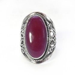 Natural Red Ruby 925 Sterling Silver Ring Handmade Jewelry