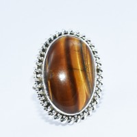 Natural Tiger Eye Ring 925 Sterling Silver Handmade Silver Jewelry Indian Silver Jewelry