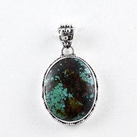 Natural Turquoise Pendant Handmade 925 Sterling Silver Wholesale Silver Pendant Jewellery