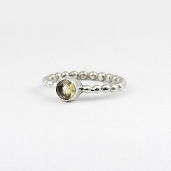 Natural Yellow Citrine Band Ring Handmade 925 Sterling Silver Ring Jewelry Latest Fashion Jewelry