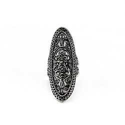 Oxidised 925 Sterling Plain Silver Ring Handmade Jewelry Gift For Her