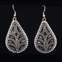 Oxidized 925 Sterling Silver Dangle Earring Women Handcrafted Boho Jewelry