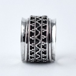 Oxidized Band Ring 925 Sterling Plain Silver Ring Jewellery Indian Artisan Handcrafted Silver Jewellery