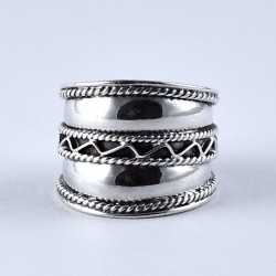 Oxidized Band Ring Handmade 925 Sterling Plain Silver Jewellery Engagement Ring Fine Ring Jewellery