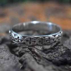 Oxidized Silver Band Ring Handmade 925 Sterling Silver Plain Silver Boho Ring Jewelry