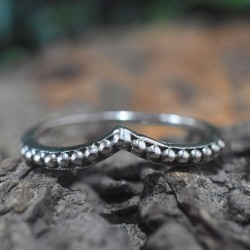 Oxidized Silver Jewelry Band Ring Handmade Solid 925 Sterling Silver Jewelry