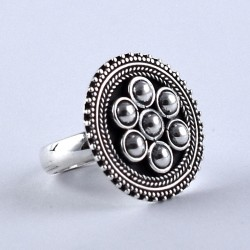 Oxidized Silver Ring Jewelry Handmade 925 Sterling Plain Silver 925 Stamped Jewelry