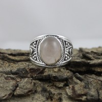 Chunky Snow Queen !! Rose Quartz 925 Silver Jewelry Silver Ring Jewelry