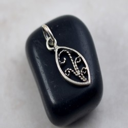Plain Silver Pendant 925 Sterling Silver Handmade Oxidized Silver Jewelry Artisan Design Jewelry