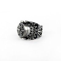 Poison Ring 925 Sterling Plain Silver Handmade Oxidized Jewelry