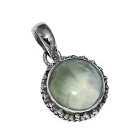Prehnite 925 Sterling Silver Jewelry Pendant Handmade Jewelry Gift For Her