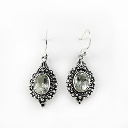 Expression Of Sympathy Green Amethyst 925 Sterling Silver Earring
