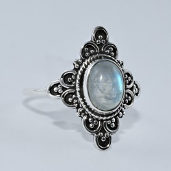 Rainbow Moonstone 925 Sterling Silver Boho Ring June Birthstone Ring Jewelry Indian Silver Jewelry