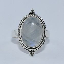 Rainbow Moonstone Ring 925 Sterling Silver Boho Ring Promises Ring Jewelry Gift For Her