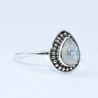 Rainbow Moonstone Ring Handmade 925 Sterling Silver Wholesale Silver Jewelry Manufacture Silver Ring Oxidized Jewelry