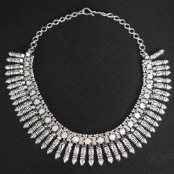 Exclusive Silver Plain Jewelry !! 925 Sterling Silver Handmade fancy Design Necklace