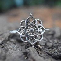 Rangoli Midi Ring Solid 925 Sterling Plain Silver Handmade Silver Band Ring Jewellery