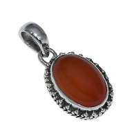 Red Onyx 925 Sterling Silver Boho Pendant Jewelry Indian Silver Jewelry