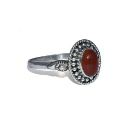 Red Onyx 925 Sterling Silver Ring Bezel Setting Women Jewelry Boho Ring Birthstone Ring