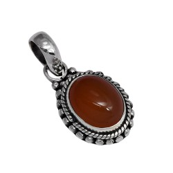 Red Onyx 925 Sterling Solid Silver Pendant Handmade Jewelry