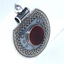 Red Onyx Pendant 925 Sterling Silver Wholesale Silver Pendant Jewelry Gift For Her