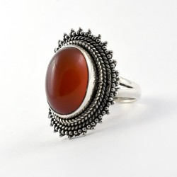 Looking Amazing !! Red Onyx Ring 925 Sterling Silver Cab Stone Ring Boho Ring Handmade Jewelry