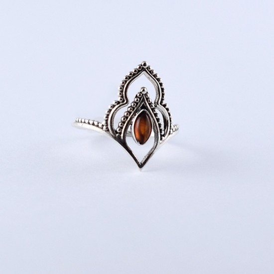 Red Onyx Ring 925 Sterling Silver Handmade Boho Ring Indian Silver Jewellery