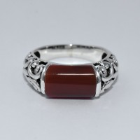 Red Onyx Ring 925 Sterling Silver Handmade Ring Jewelry Boho Ring Jewelry Artisan Designer Jewelry