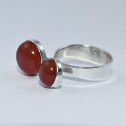 Gorgeous Red Onyx Ring 925 Sterling Silver Open Ring Adjustable Ring Fine Jewelry Birthday Present Gift