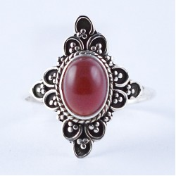 Red Onyx Ring Handmade 925 Sterling Silver Oxidized Jewelry Boho Ring Jewelry