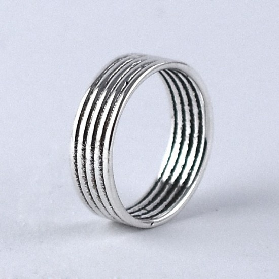 Silver Band Ring Handmade 925 Sterling Plain Silver Jewelry Round Shape Solitaire Ring Jewelry
