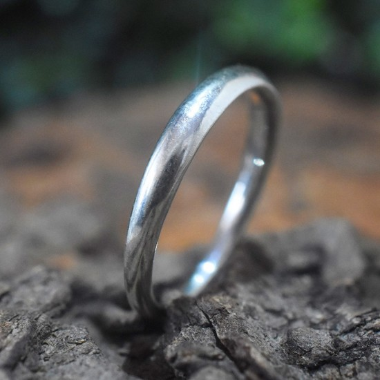 Simple Band Ring Handmade Solid 925 Sterling Silver Ring 925 Stamped Silver Jewelry