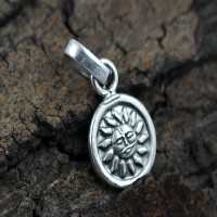 Simple Charms Pendant 925 Sterling Plain Silver Jewelry 925 Stamped Jewelry Gift For Her
