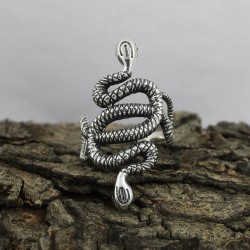 Snake Design 925 Sterling Plain Silver Ring Oxidized Jewelry