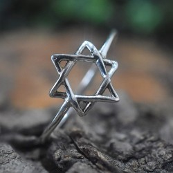 Star Shape Silver Band Ring 925 Sterling Silver Ring Women Ring Handmade Silver Jewellery
