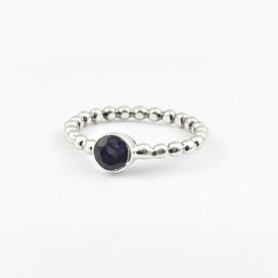 Stunning Iolite Band Ring 925 Sterling Silver Ring Jewelry Wholesale Silver Jewelry Manufacture Silver Jewelry
