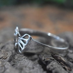 Stylish Butterfly Shape Band Ring 925 Sterling Silver Wholesale Silver Ring Manufacture Silver Jewelry