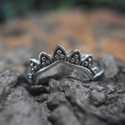 Tiara Ring Band Ring Handmade Silver Ring Women Ring Jewelry Solid 925 Sterling Silver Jewelry