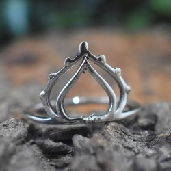 Tiara Ring Silver Band Ring Solid 925 Sterling Plain Silver Ring Handmade Jewellery Gift For Her