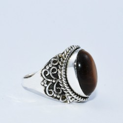 Tiger Eye 925 Sterling Silver Handmade Silver Ring Jewelry Gift For Her
