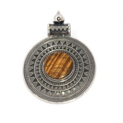 Tiger Eye Pendant 925 Sterling Silver Antique Oxidized Pendant Silver Jewelry Exporter
