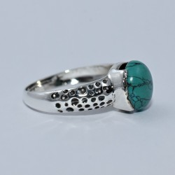 Gorgeous Style !! Turquoise Ring 925 Sterling Silver Birthstone Ring Handmade Fine Jewelry