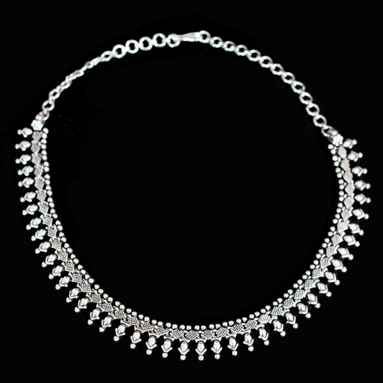 Handmad Silver Necklace !! Traditional Indian Culture Necklace 925 Sterling Silver