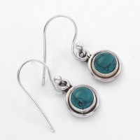 Turquoise Drop Dangle Earring Handmade 925 Sterling Silver Hook Earring Women Earring Jewelry