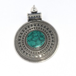 Natural Turquoise Pendant 925 Sterling Silver Pendant Jewelry Exporter Gift For Her