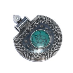 Turquoise Pendant 925 Sterling Silver Handmade Silver Jewelry Wholesale Silver Jewelry