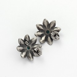 Turquoise Stud Earring 925 Sterling Silver Handmade Oxidized Jewelry Gift For Her