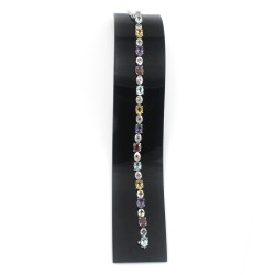Unique Design Multi Gemstone 925 Sterling Silver Bracelet Jewelry