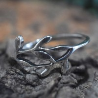 Unique Leaf Shape Band Ring 925 Sterling Silver Manufacture Silver Jewellery Exporter