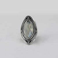 Awesome Rainbow Moonstone 925 Sterling Silver Ring